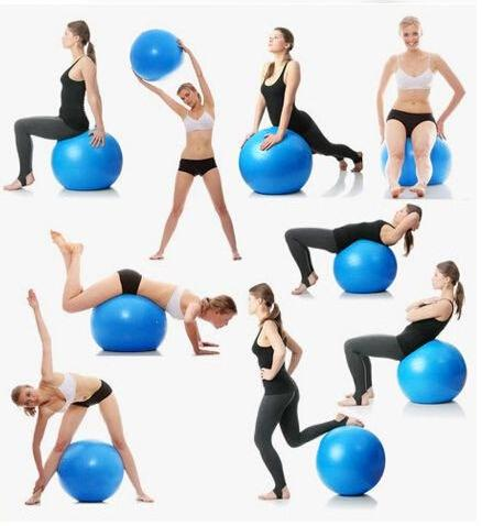 Exercices avec ballon de pilate